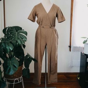 Brown Minimalist Jumpsuit